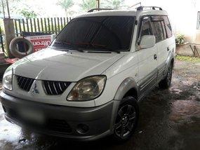 Selling White Mitsubishi Adventure 2005 at 82000 km in Davao City