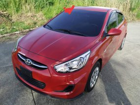 Red Hyundai Accent 2018 Sedan at 11000 km for sale