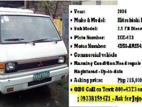 Mitsubishi L300 2006 for sale in Las Piñas