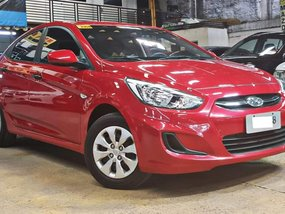 Red 2017 Hyundai Accent Manual for sale in Quezon City