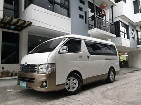 Sell White 2014 Toyota Hiace in Quezon City