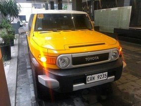 Selling Yellow Toyota Fj Cruiser 2019 Automatic Diesel at 7000 km