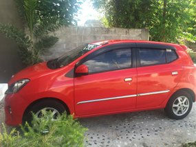 Sell Red 2015 Toyota Wigo Hatchback at 47000 km