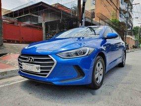 Blue Hyundai Elantra 2019 Manual for sale