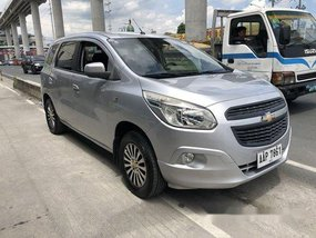 Silver Chevrolet Spin 2014 at 80000 km for sale