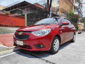 Selling Red Chevrolet Sail 2018 Manual Gasoline