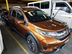 Orange Honda BR-V 2018 for sale in Quezon City
