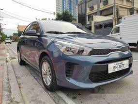 Blue Kia Rio 2017 for sale in Quezon City