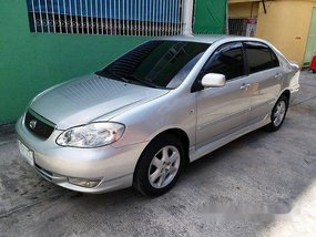 Silver Toyota Corolla Altis 2002 Automatic Gasoline for sale