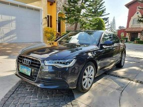 Black Audi A6 2013 at 49000 km for sale