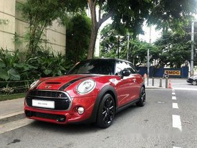Red Mini Cooper 2017 Automatic Gasoline for sale