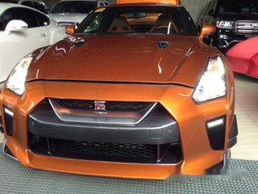 Orange Nissan Gt-R 2017 at 1500 km for sale