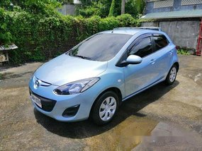 Blue Mazda 2 2013 Manual Gasoline for sale