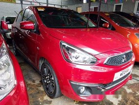 Red Mitsubishi Mirage 2018 Automatic Gasoline for sale