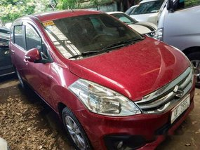 Red Suzuki Ertiga 2017 at 20000 km for sale