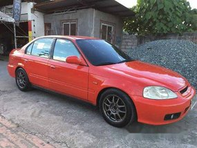 Red Honda Civic 1998 Automatic Gasoline for sale