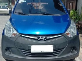 Selling Blue Hyundai Eon 2014 at 55000 km
