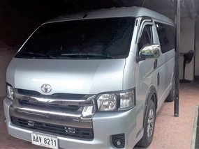 Silver Toyota Hiace 2014 at 64000 km for sale in Lucena