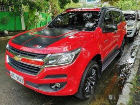 Selling Red Chevrolet Trailblazer 2017 at 40000 km