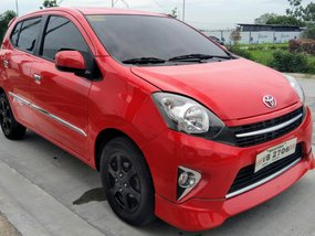 Selling Red Toyota Wigo 2016 Automatic at 19000 km
