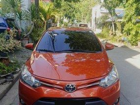 Selling Orange Toyota Vios 2015 Manual Gasoline at 43000 km