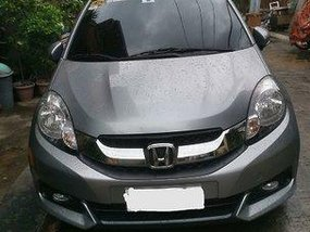 Selling Silver Honda Mobilio 2016 at 14000 km