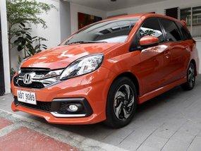 Orange Honda Mobilio 2015 Automatic Diesel for sale