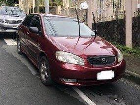 Red Toyota Corolla Altis 2003 Automatic Gasoline for sale