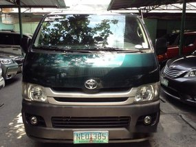 Green Toyota Hiace 2009 Manual Diesel for sale