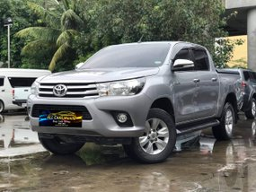 Silver 2016 Toyota Hilux 2.4 G 4x2 Diesel AT for sale in Makati