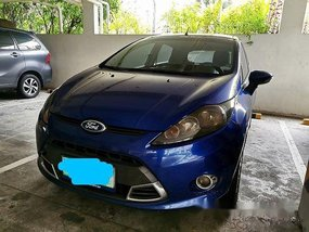 Blue Ford Fiesta 2011 at 98500 km for sale in Muntinlupa