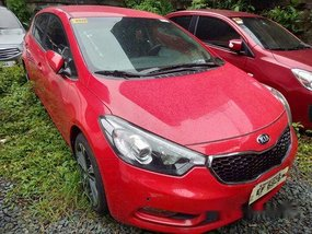 Red Kia Forte 2017 for sale in Makati