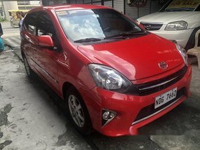 Selling Red Toyota Wigo 2017 Automatic Gasoline at 19000 km