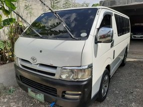 White 2007 Toyota Hiace Manual Diesel for sale