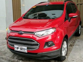 Selling Red Ford Ecosport 2017 Manual Gasoline at 20000 km