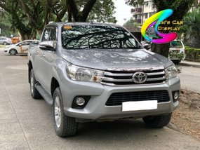 Selling Silver Toyota Hilux 2017 at 40000 km in Davao City
