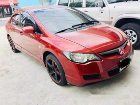 Red Honda Civic 2008 Manual Gasoline for sale