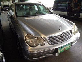 Silver Mercedes-Benz C200 2002 Automatic Gasoline for sale