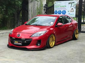 Selling Red Mazda 3 2013 at 40000 km in Bulacan