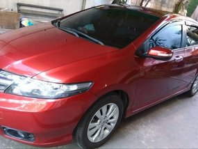 Red Honda City 2012 at 46000 km for sale