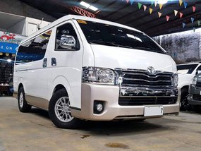 Sell White 2018 Toyota Hiace at 15000 km in Quezon City