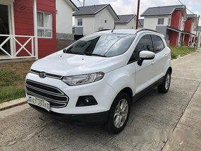 White Ford Ecosport 2018 Manual Gasoline for sale