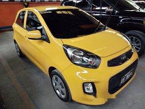 Yellow Kia Picanto 2016 Manual Gasoline for sale in Quezon City