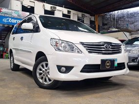 White 2014 Toyota Innova Diesel Manual for sale