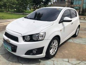 White Chevrolet Sonic 2013 Automatic Gasoline for sale