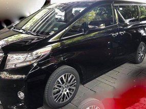 Black Toyota Alphard 2016 at 23000 km for sale