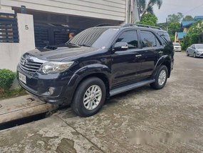 Black Toyota Fortuner 2014 at 60100 km for sale