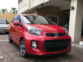 Sell Red 2017 Kia Picanto at 6000 km in Quezon City