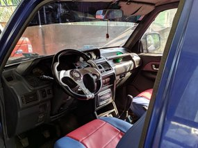 Selling Blue Mitsubishi Pajero 2002 at 80000 km in Davao City
