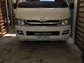 Selling White Toyota Hiace 2008 Van in Quezon City